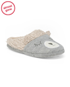 Snow Bear Knit Slippers