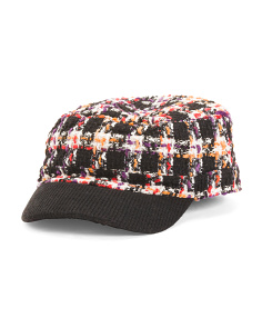 Quilted Tweed Conductor Hat
