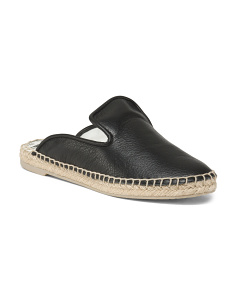 Espadrille Leather Mules