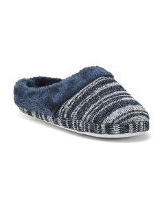 Heather Knit Clog Slippers