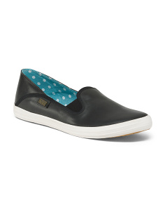Slip On Leather Comfort Sneakers