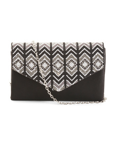 Chevron Bead Clutch