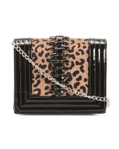 Leopard Clutch With Chain