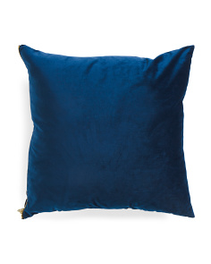 20x20 Velvet Zipper Pillow