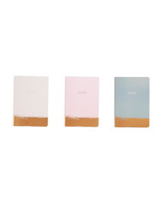 3pk Gold Foil Dipped Journals