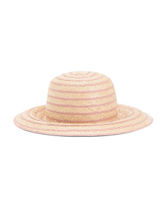 Made In Italy Natural Striped Hat