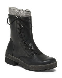 Leather Memory Foam Boots