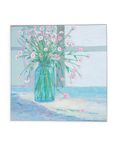 24x24 Chroma Floral Canvas Print