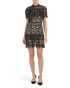 Star Lace Mini Dress