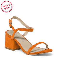 Made In Brazil Block Heel Suede Sandals