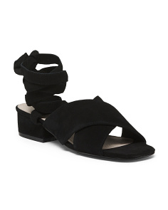 Square Toe Ankle Wrap Sandals