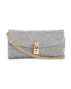 Made In Italy Lace Clutch