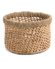 Made In Indonesia Folded Rim Storage Basket