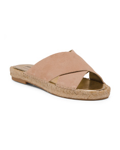 Made In Spain Slip On Suede Sandals