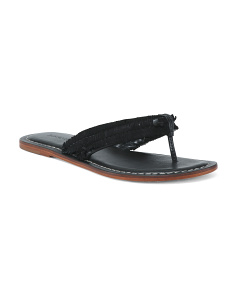 Thong Slip On Leather Sandals