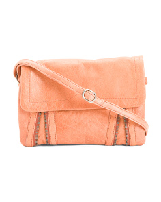 Leather Pine Crossbody