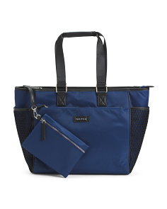 Large Nylon Tote With Pouch
