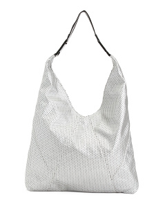 Perforated Hobo With Web Strap