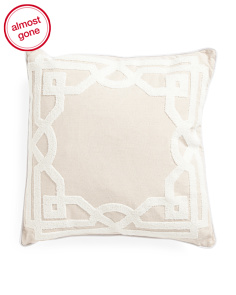 20x20 Textured Trim Pillow