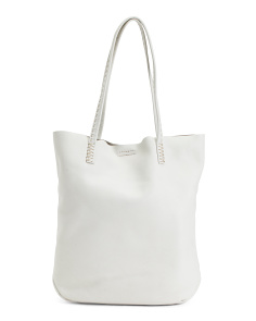 Naomi Pickstitch Leather Tote