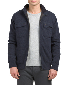 Lateral Zip Front Wool Sweater