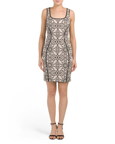 Stretch Jacquard Bodycon Dress