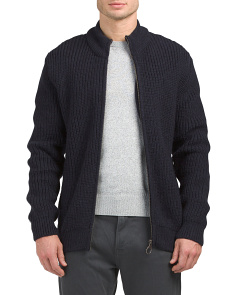 New Tyne Wool Full Zip Sweater