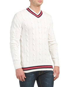Stride V-neck Sweater