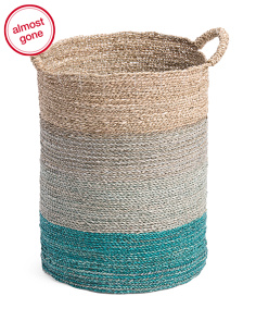 Large Ombre Seagrass Storage Basket