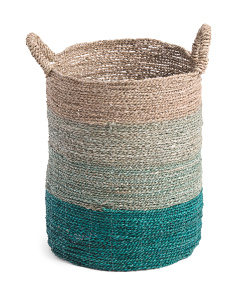 Medium Ombre Seagrass Storage Basket