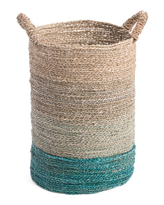 Small Ombre Seagrass Storage Basket