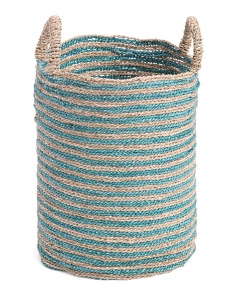 Small Seagrass Color Block Storage Basket