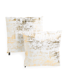 20x20 2pk Metallic Pillow