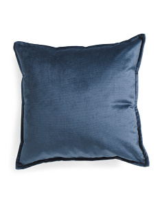 Made In USA 22x22 Belvedere Velvet Pillow