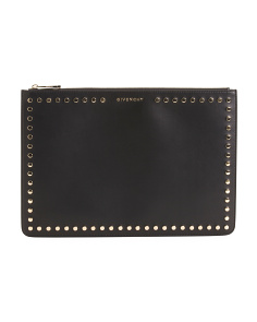 Made In Italy Pandora Leather Clutch