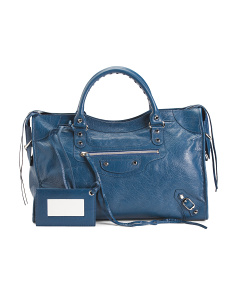 Made In Italy City Lambskin Satchel