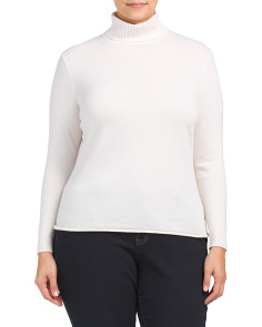 Plus Cashmere Turtleneck Sweater