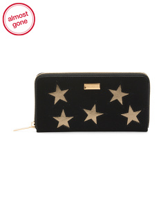 Made In Spain Star Zip Around Wallet