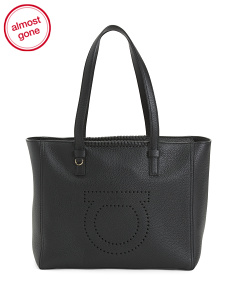 Made In Italy Gancio Mood Marta Leather Medium Tote