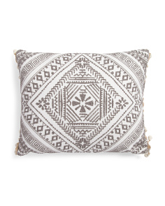 16x20 Wooden Bead Trim Pillow