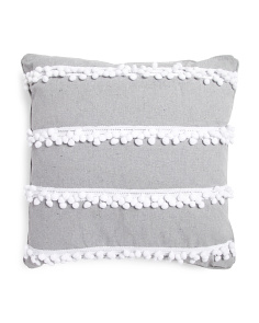 20x20 Pom Pom Trim Pillow