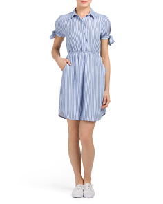 Juniors Button Front Shirt Dress