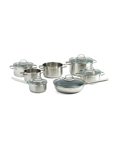 Made In Germany 7pc Stainless Steel Cookware Set With Lids