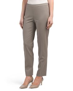 Petite Bleecker Stretch Wool Pants