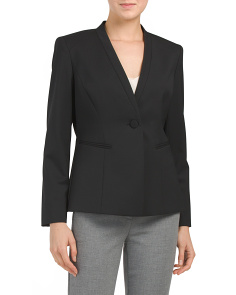 Petite Kara Stretch Wool Jacket