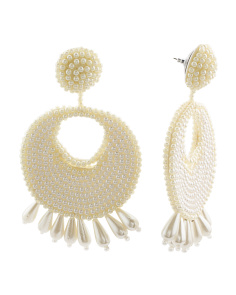 Made In India Pearl Statement Earrings