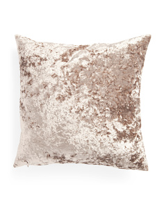20x20 Crushed Velvet Pillow