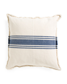 27x27 Oversized Navy Stripe Pillow