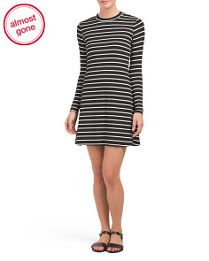 Juniors Mock Neck Rib Dress