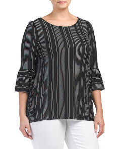 Plus Made In USA Stripe Top